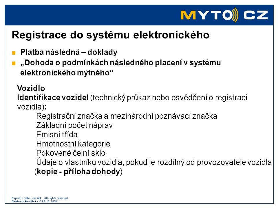 Registrace do systému elektronického