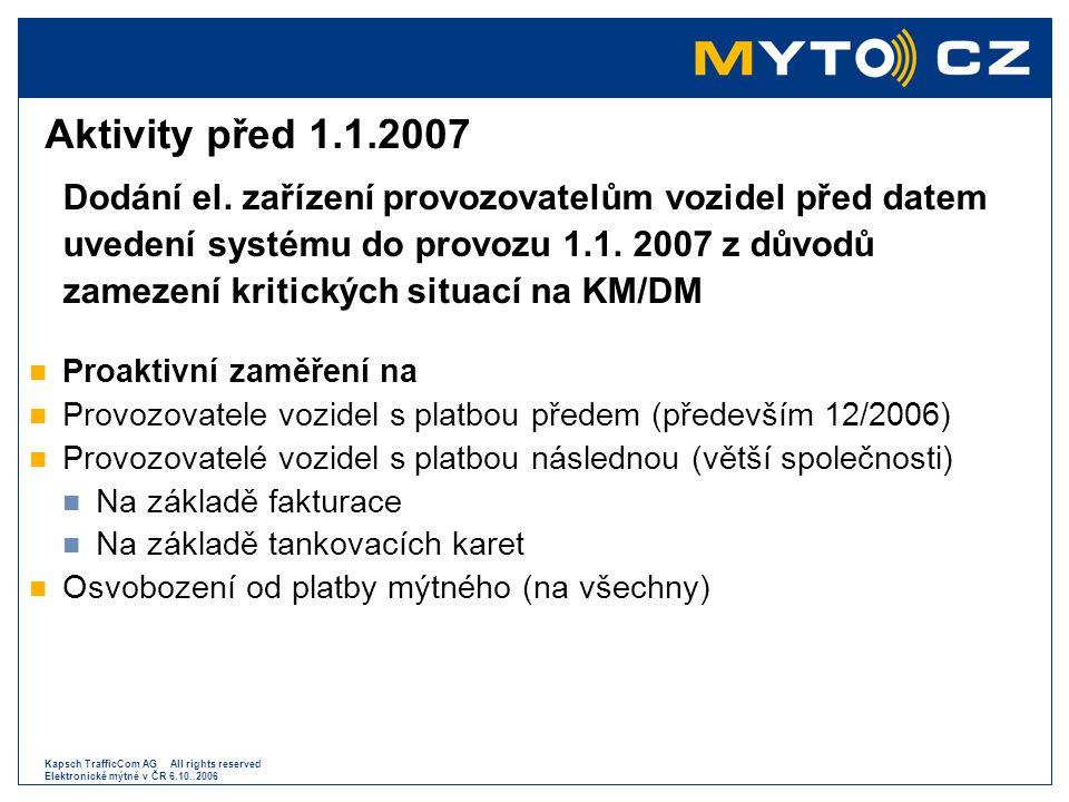 Aktivity před 1.1.2007 Proaktivní zaměření na