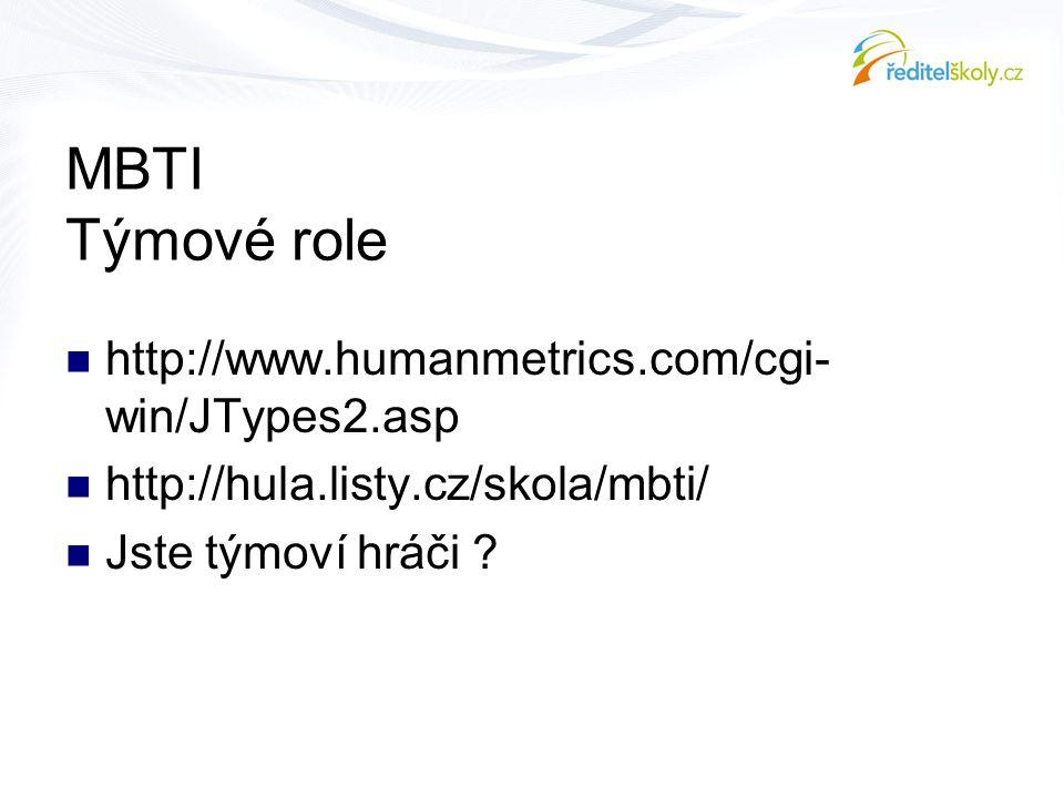 MBTI Týmové role http://www.humanmetrics.com/cgi-win/JTypes2.asp