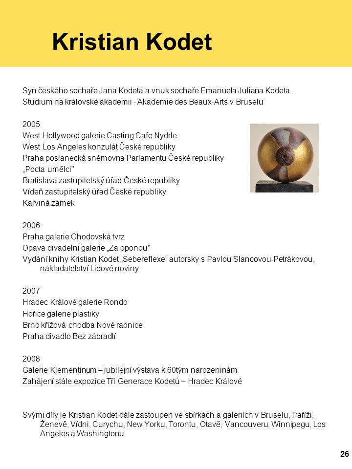 Kristian Kodet Syn českého sochaře Jana Kodeta a vnuk sochaře Emanuela Juliana Kodeta.