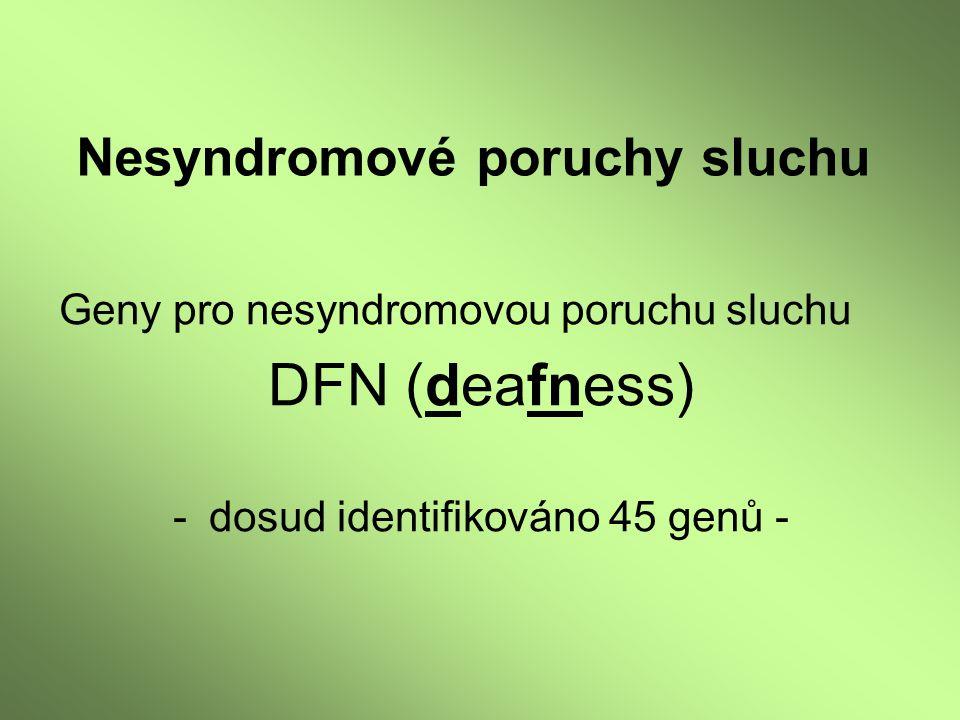 Nesyndromové poruchy sluchu