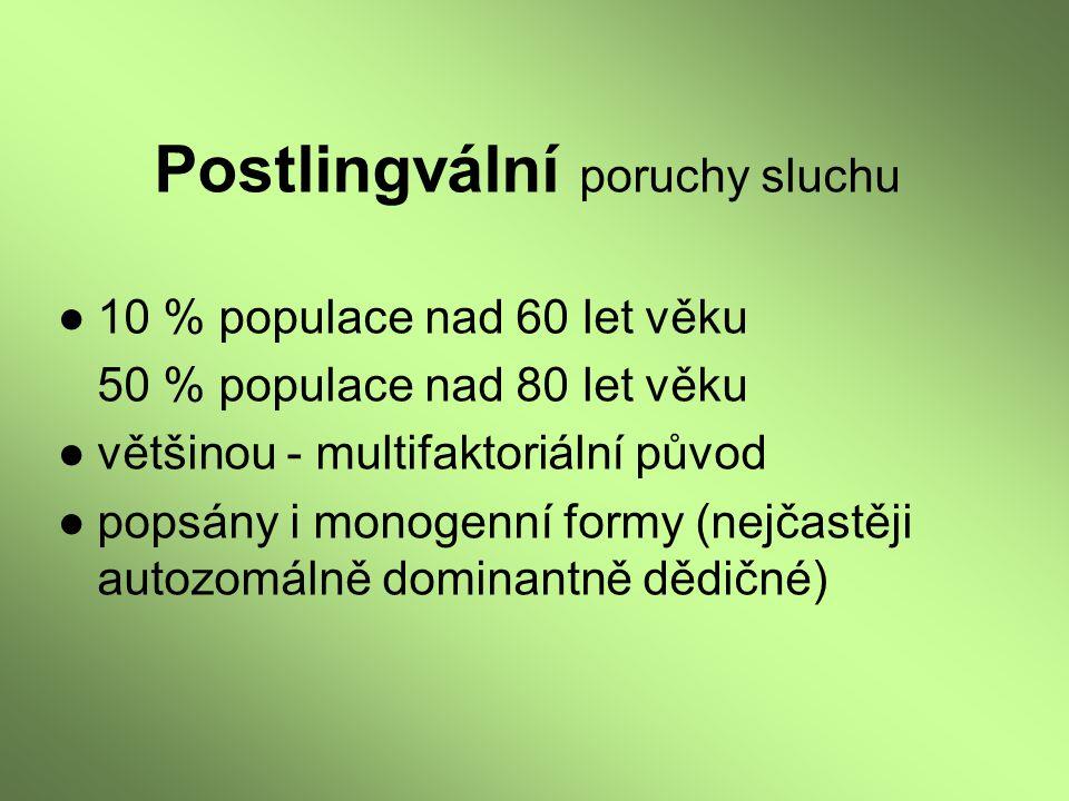 Postlingvální poruchy sluchu