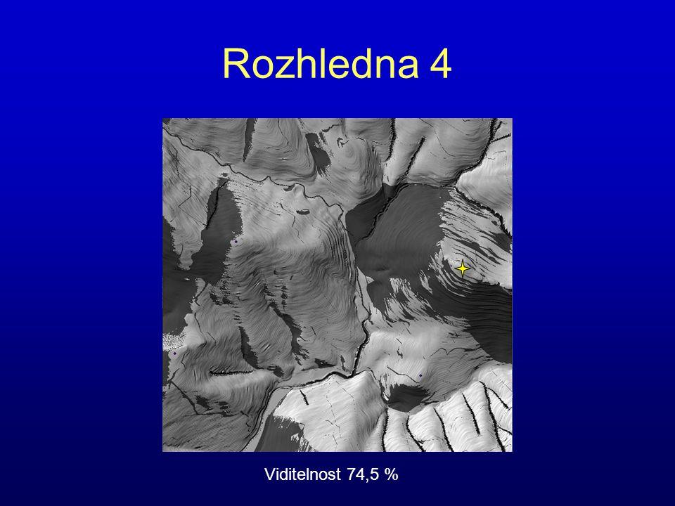 Rozhledna 4 Viditelnost 74,5 %