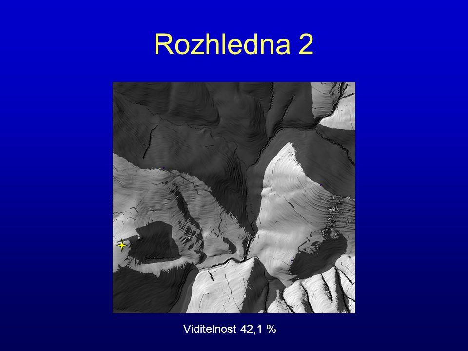 Rozhledna 2 Viditelnost 42,1 %
