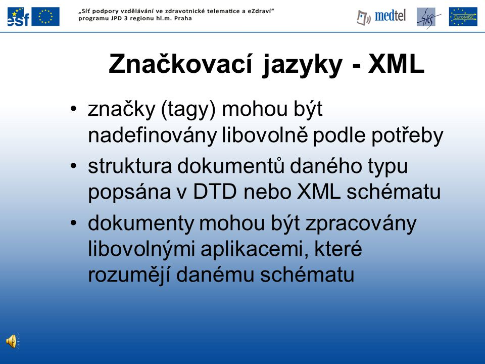 Značkovací jazyky - XML