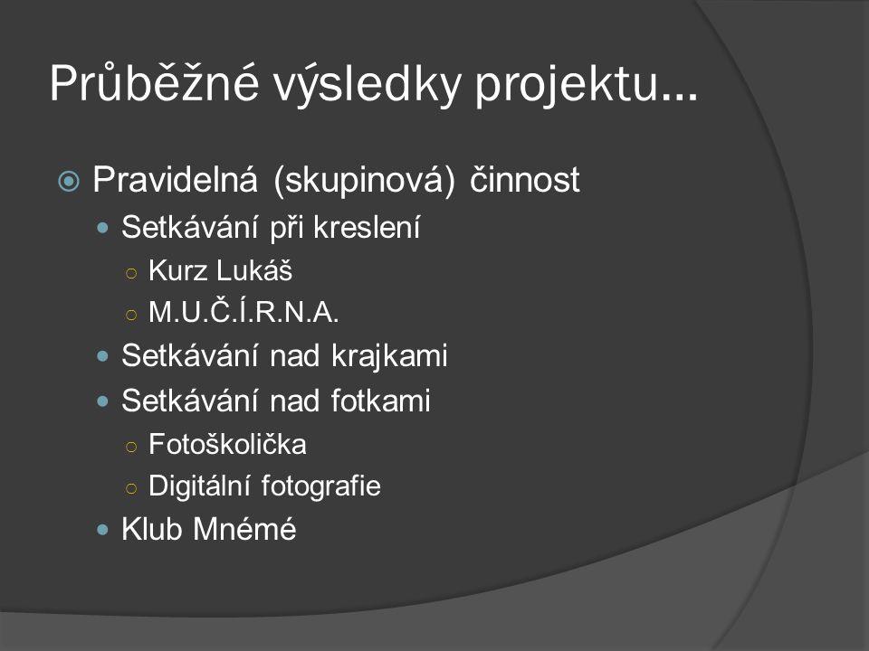Průběžné výsledky projektu…
