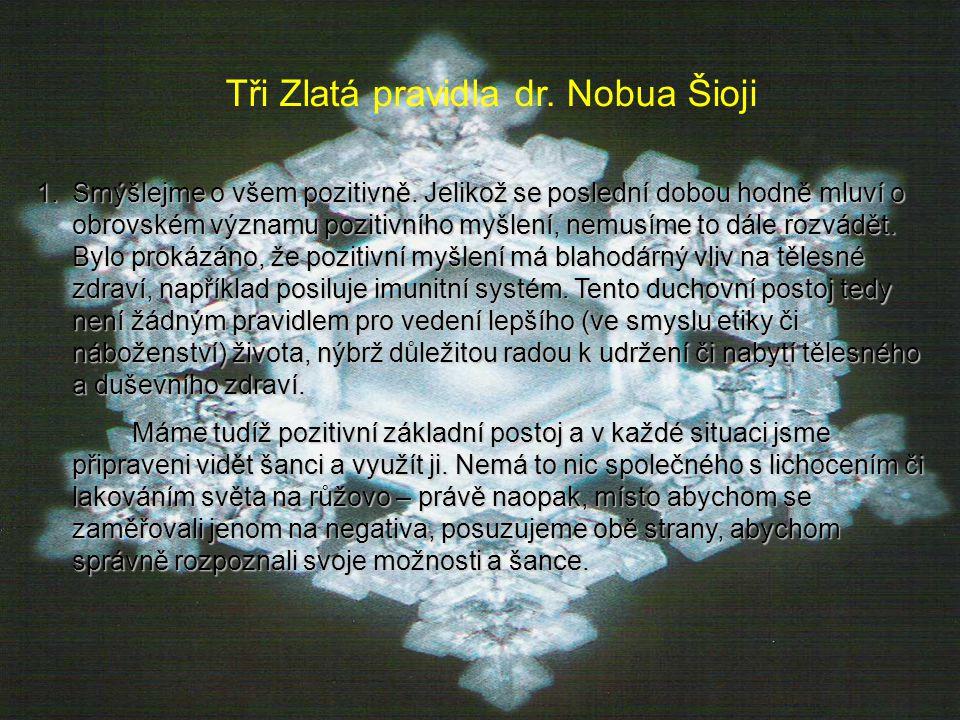 Tři Zlatá pravidla dr. Nobua Šioji