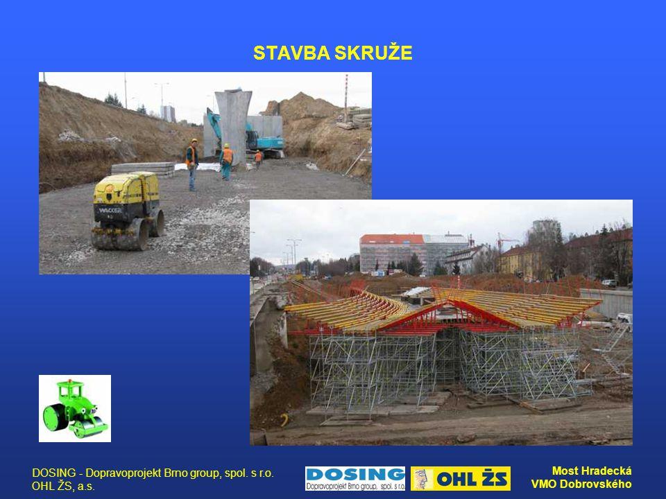 STAVBA SKRUŽE DOSING - Dopravoprojekt Brno group, spol. s r.o. OHL ŽS, a.s.