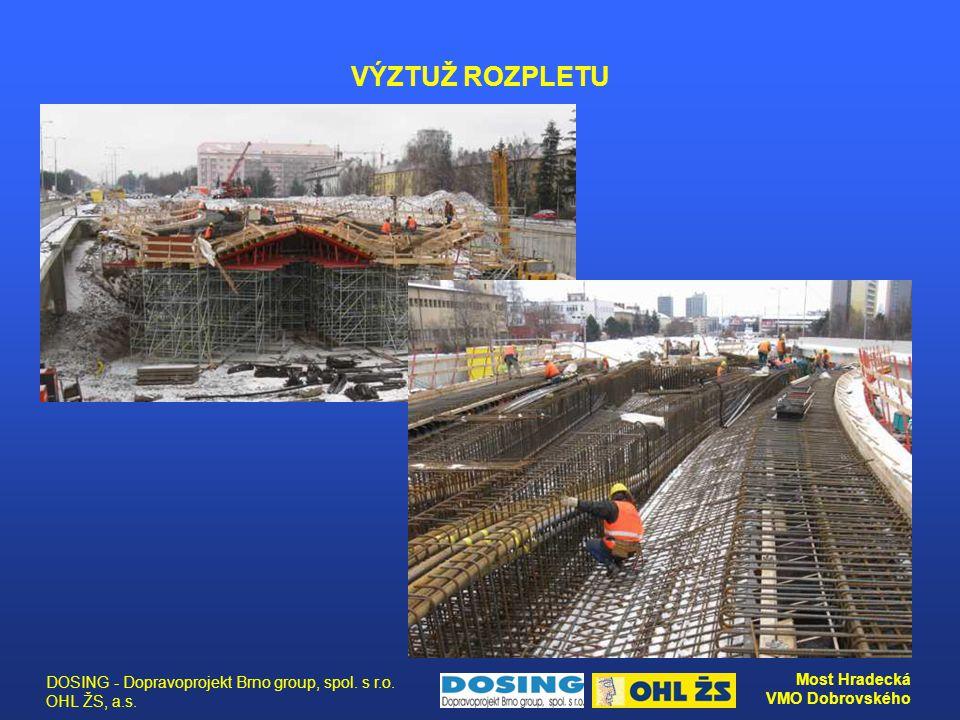 VÝZTUŽ ROZPLETU DOSING - Dopravoprojekt Brno group, spol. s r.o. OHL ŽS, a.s.