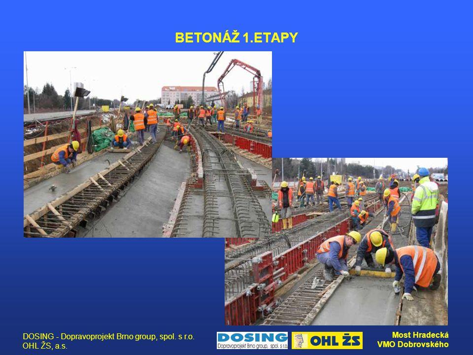 BETONÁŽ 1.ETAPY DOSING - Dopravoprojekt Brno group, spol. s r.o. OHL ŽS, a.s.