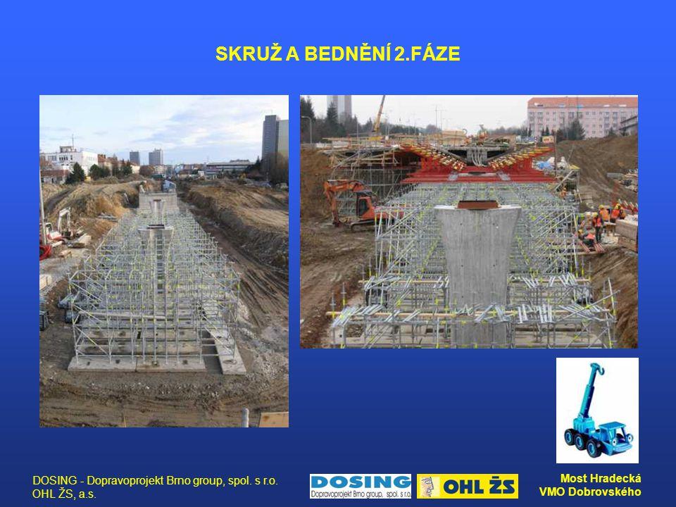 SKRUŽ A BEDNĚNÍ 2.FÁZE DOSING - Dopravoprojekt Brno group, spol. s r.o. OHL ŽS, a.s.