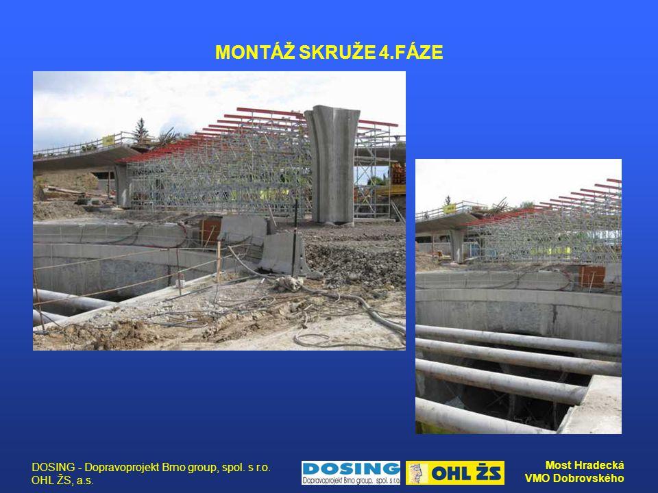 MONTÁŽ SKRUŽE 4.FÁZE DOSING - Dopravoprojekt Brno group, spol. s r.o. OHL ŽS, a.s.