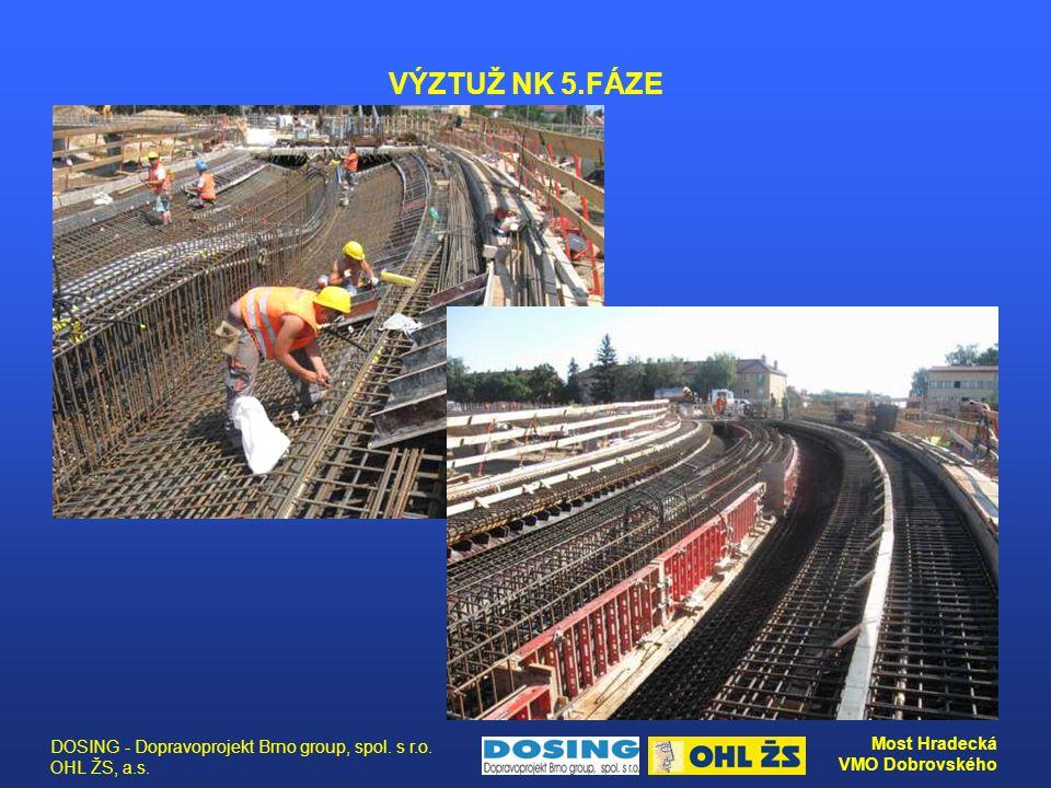 VÝZTUŽ NK 5.FÁZE DOSING - Dopravoprojekt Brno group, spol. s r.o. OHL ŽS, a.s.