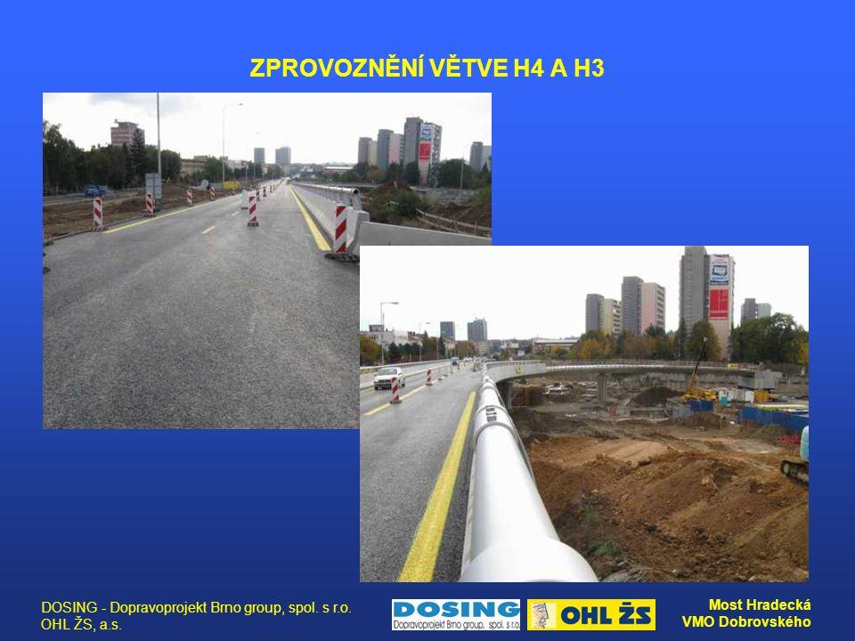 ZPROVOZNĚNÍ VĚTVE H4 A H3 DOSING - Dopravoprojekt Brno group, spol. s r.o. OHL ŽS, a.s.