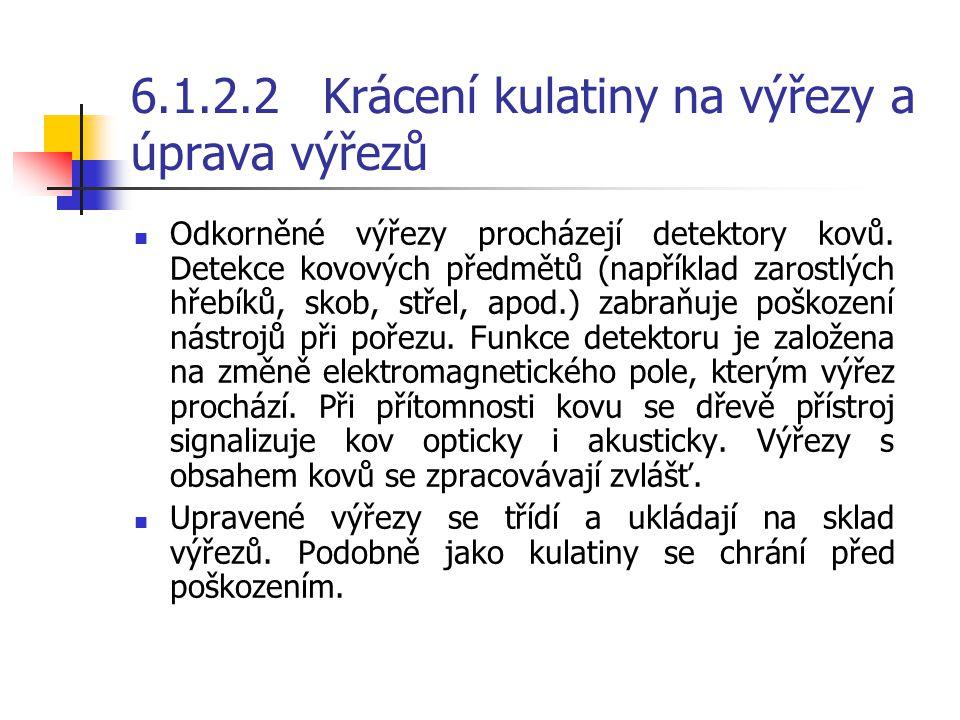 6.1.2.2 Krácení kulatiny na výřezy a úprava výřezů