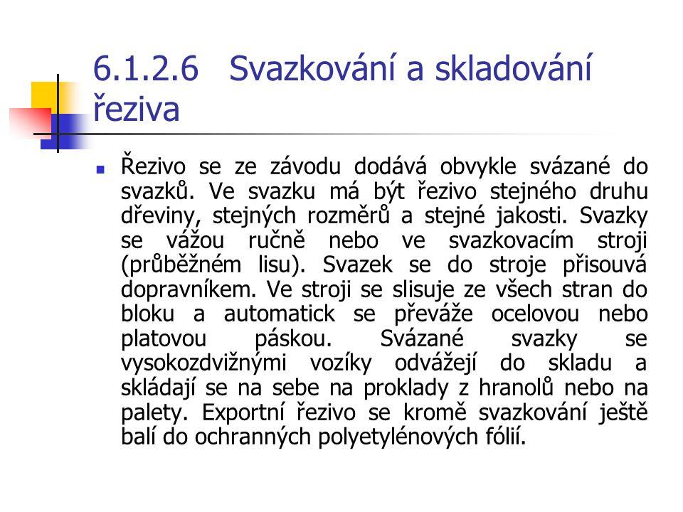 6.1.2.6 Svazkování a skladování řeziva