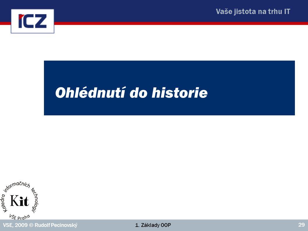 Ohlédnutí do historie VSE, 2009 © Rudolf Pecinovský 1. Základy OOP