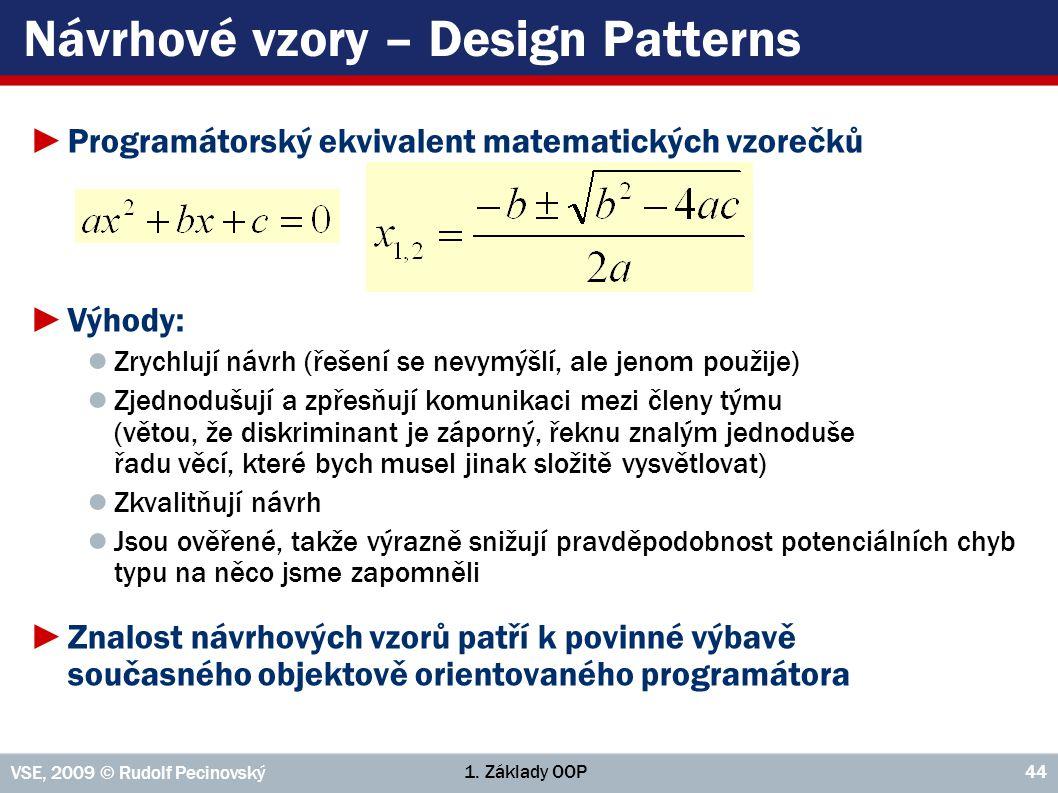 Návrhové vzory – Design Patterns