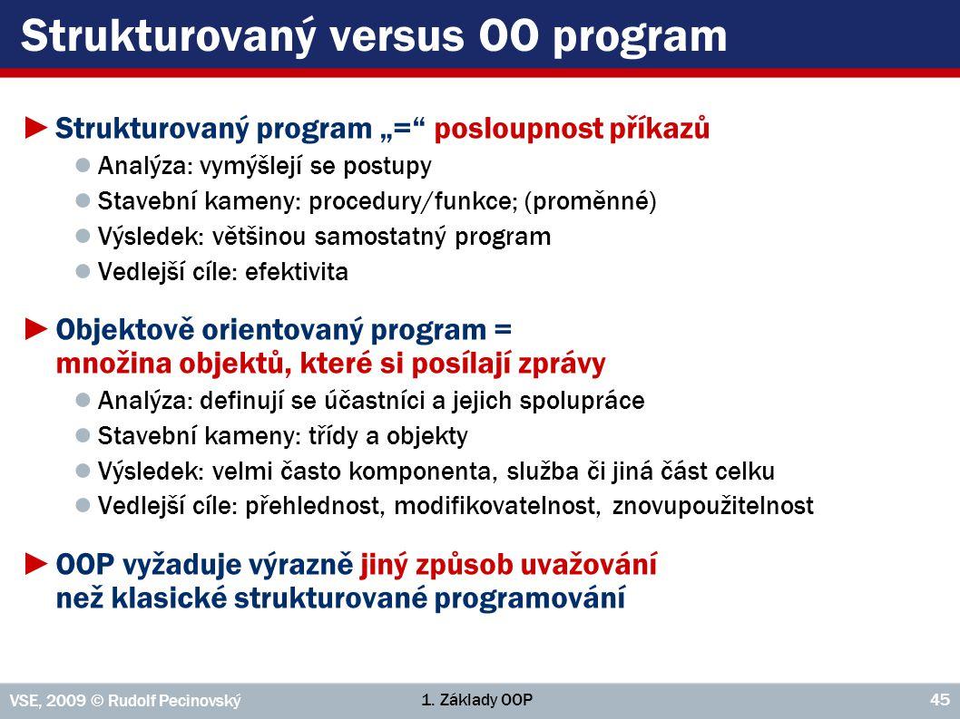 Strukturovaný versus OO program