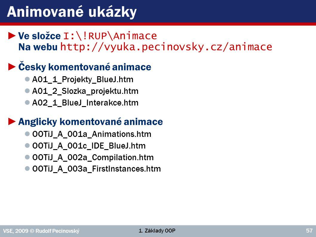 Animované ukázky Ve složce I:\!RUP\Animace Na webu http://vyuka.pecinovsky.cz/animace. Česky komentované animace.