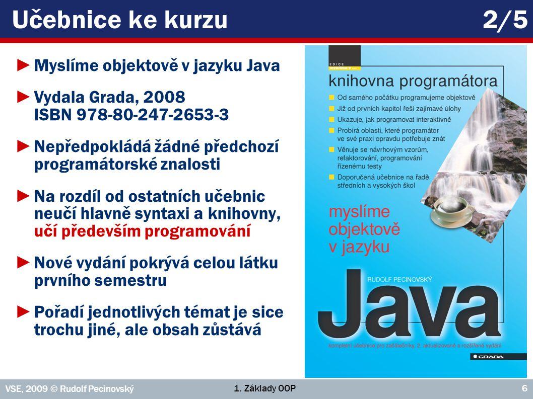 Učebnice ke kurzu 2/5 Myslíme objektově v jazyku Java