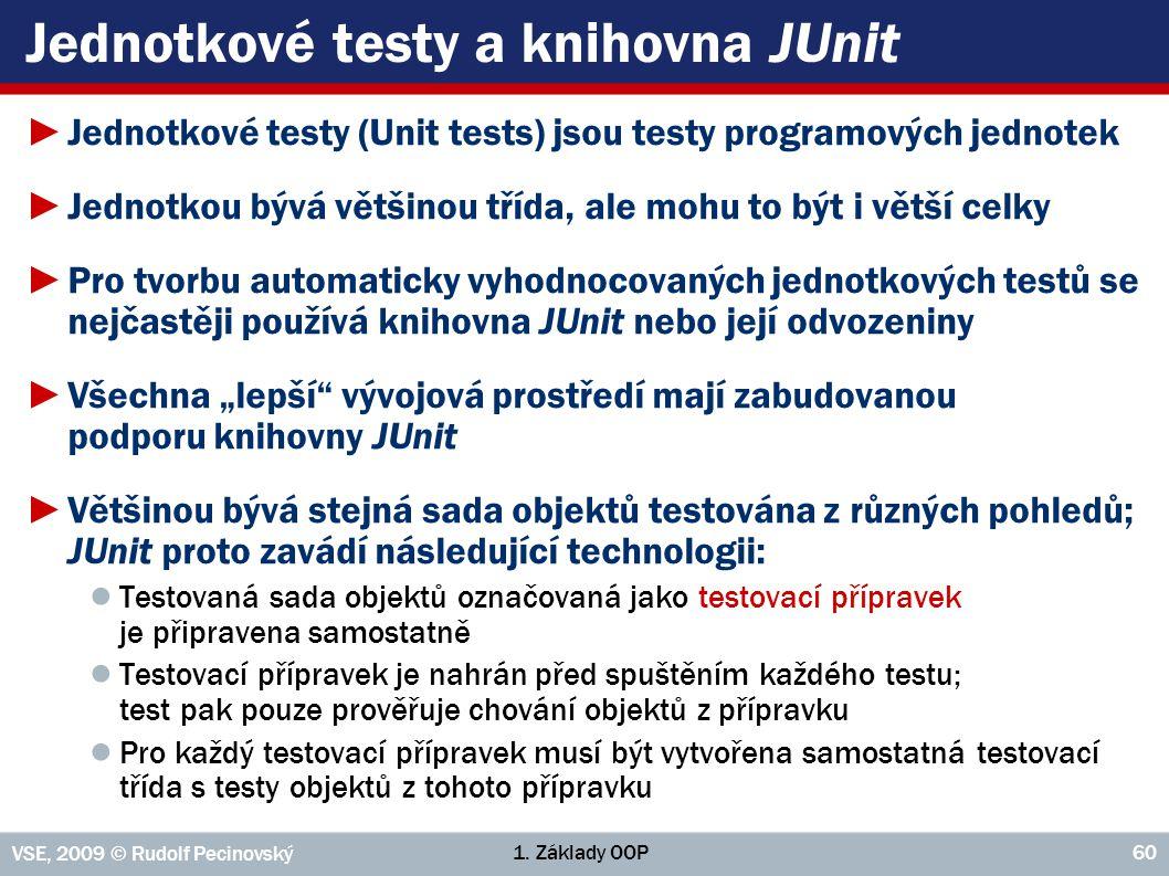 Jednotkové testy a knihovna JUnit