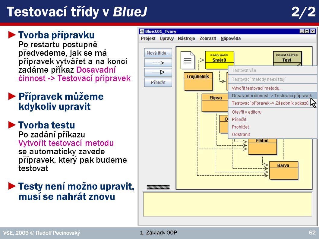 Testovací třídy v BlueJ 2/2