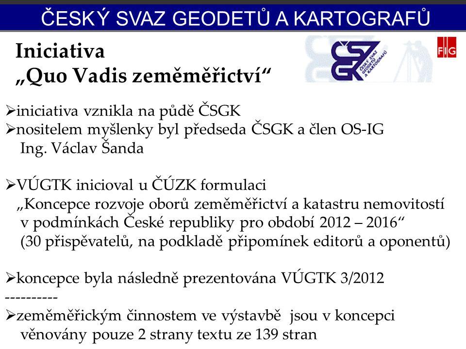 "Iniciativa ""Quo Vadis zeměměřictví"