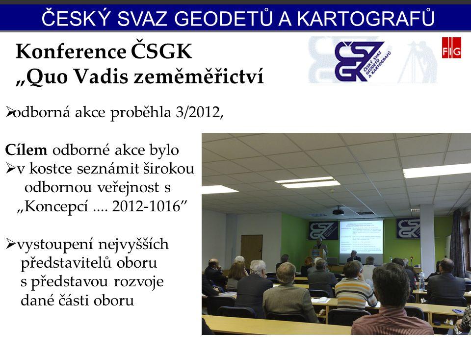 """Konference ČSGK """"Quo Vadis zeměměřictví"""