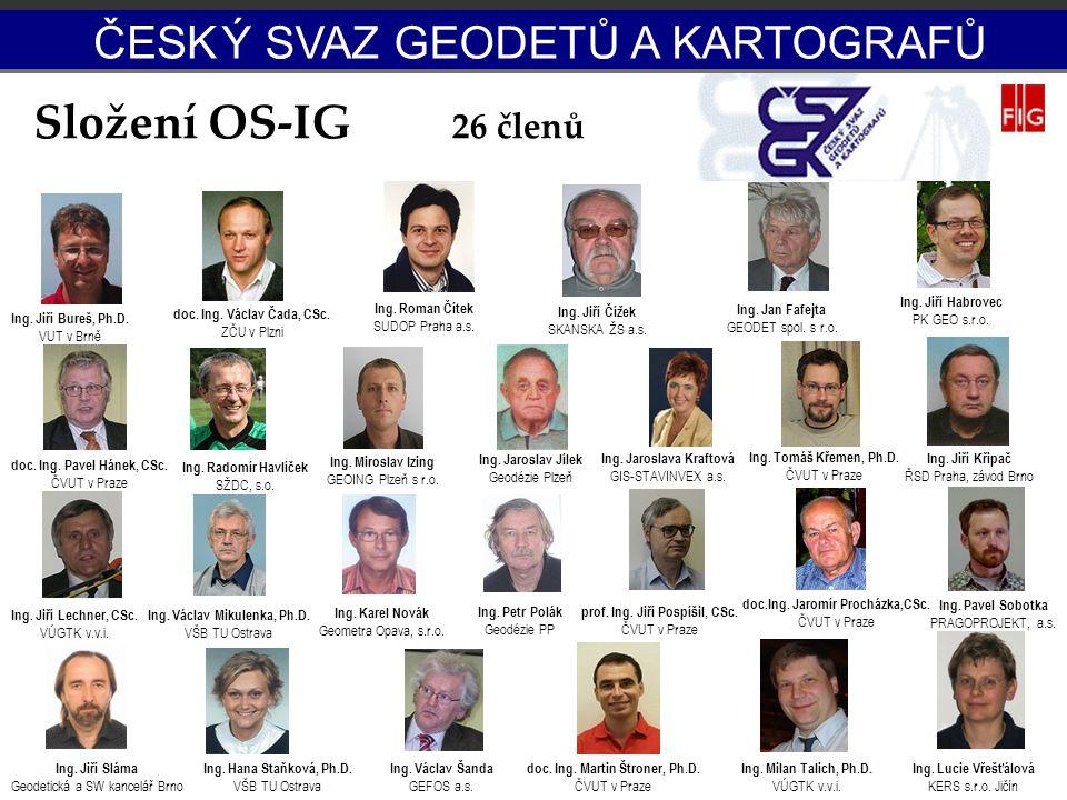 Složení OS-IG ČESK Ý SVAZ GEODETŮ A KARTOGRAFŮ 26 členů