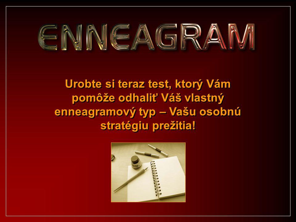 Urobte si teraz test, ktorý Vám pomôže odhaliť Váš vlastný enneagramový typ – Vašu osobnú stratégiu prežitia!