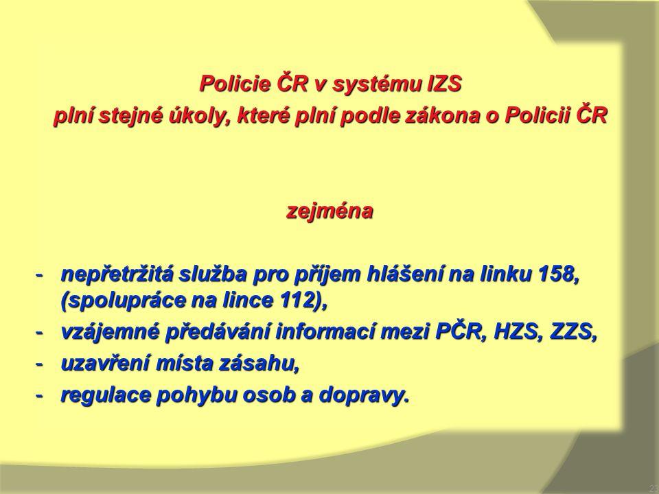 Policie ČR v systému IZS