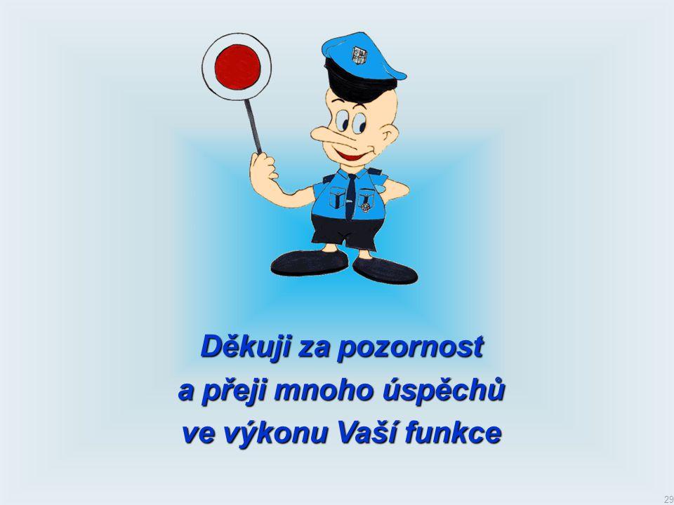 Děkuji za pozornost a přeji mnoho úspěchů ve výkonu Vaší funkce
