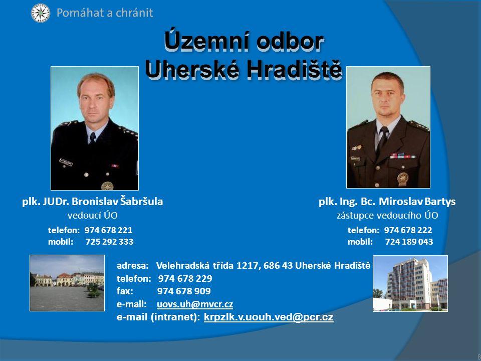Územní odbor Uherské Hradiště plk. JUDr. Bronislav Šabršula
