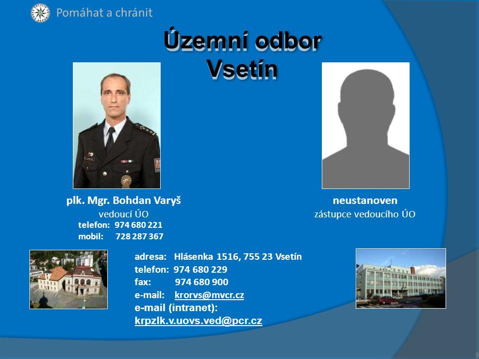 plk. Mgr. Bohdan Varyš vedoucí ÚO