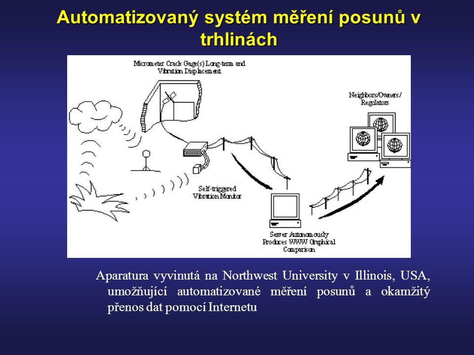 Automatizovaný systém měření posunů v trhlinách