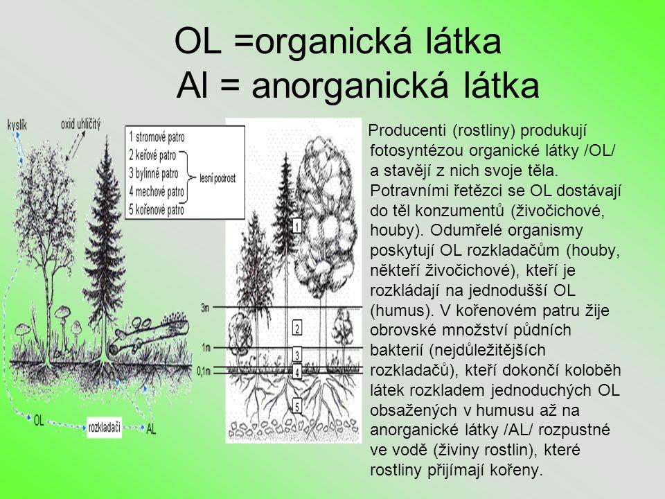 OL =organická látka Al = anorganická látka