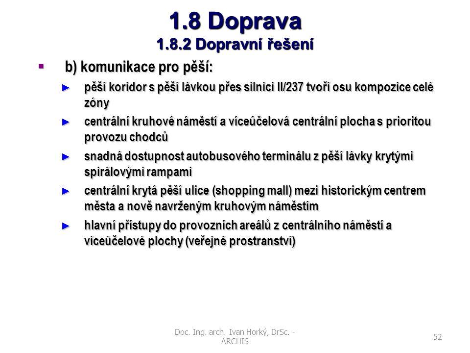 1.8 Doprava 1.8.2 Dopravní řešení