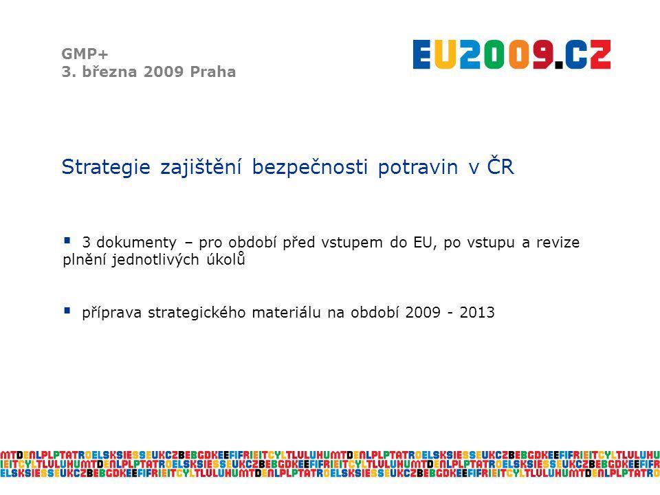Strategie zajištění bezpečnosti potravin v ČR