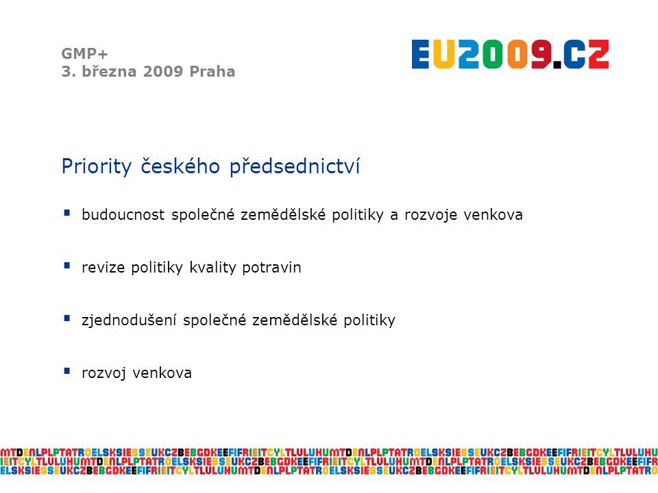 Priority českého předsednictví