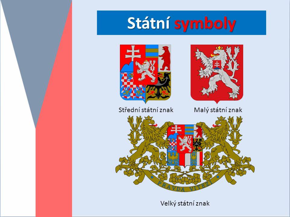 Státní symboly Střední státní znak Malý státní znak Velký státní znak