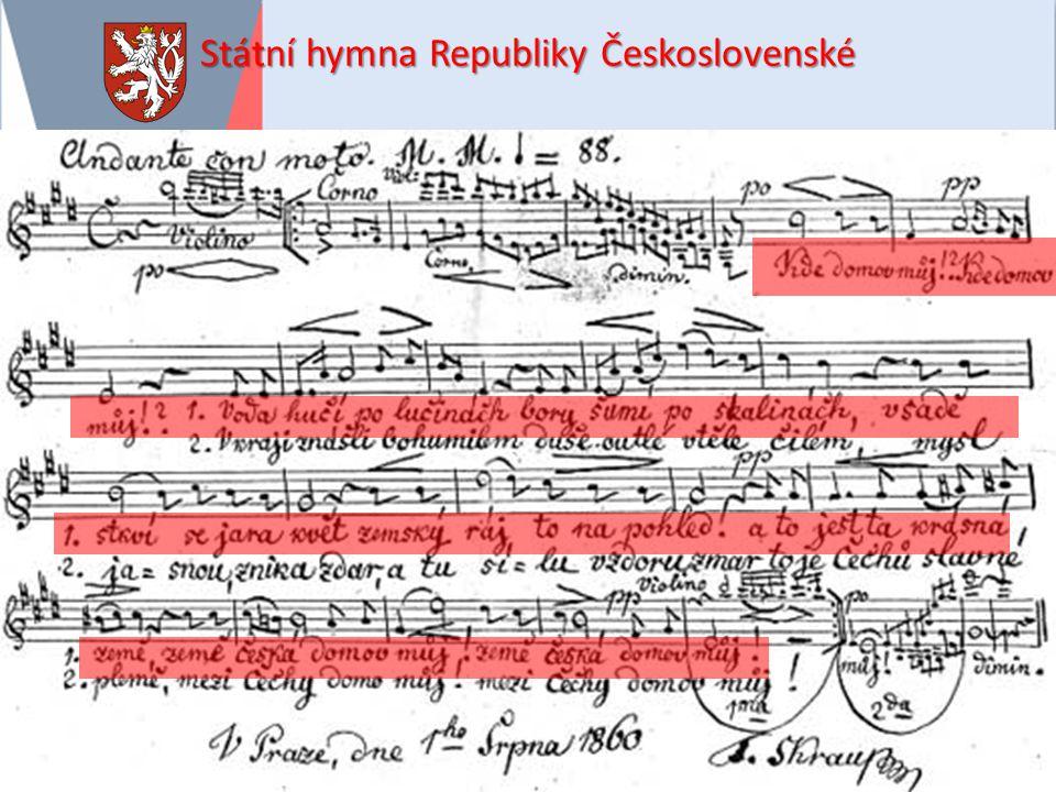Státní hymna Republiky Československé