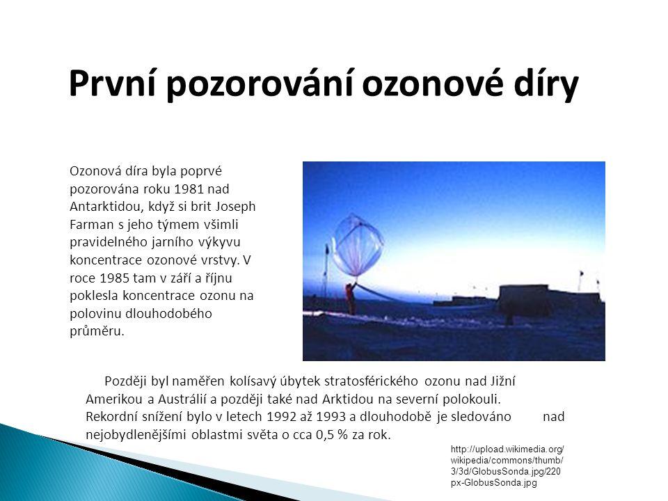 První pozorování ozonové díry