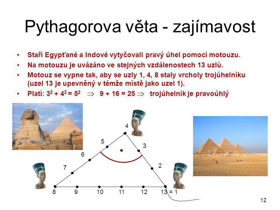 Pythagorova věta - zajímavost