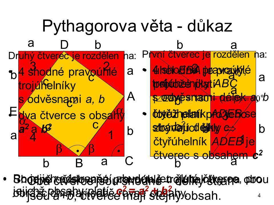 Pythagorova věta - důkaz