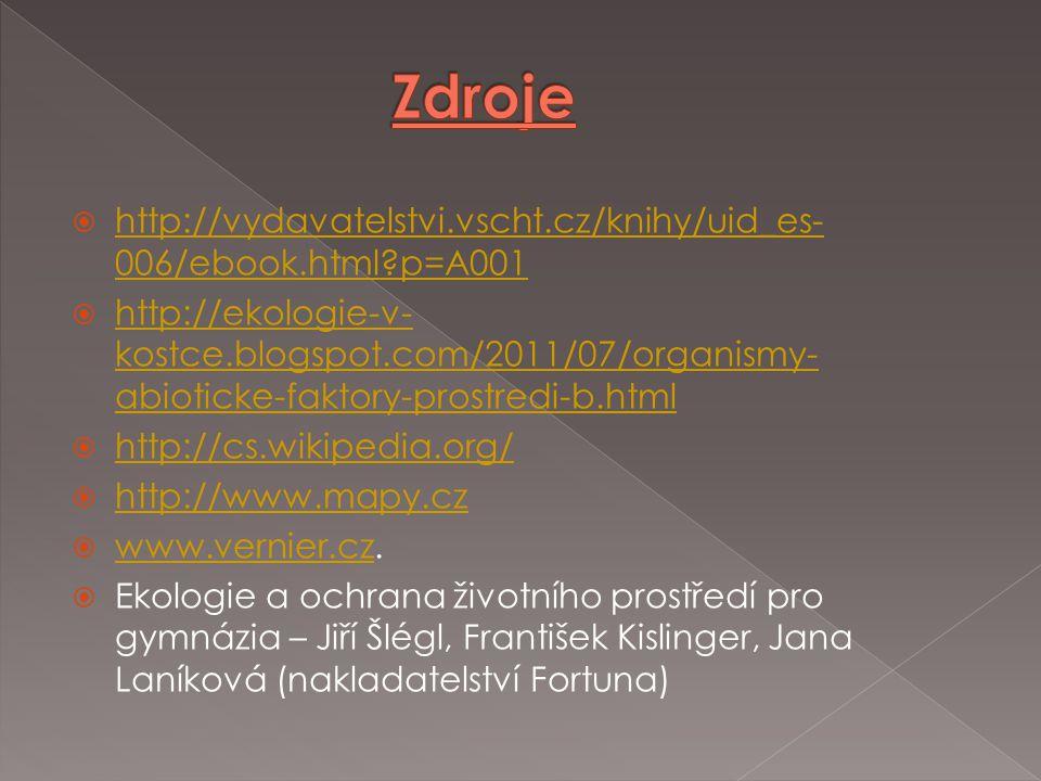Zdroje http://vydavatelstvi.vscht.cz/knihy/uid_es-006/ebook.html p=A001.