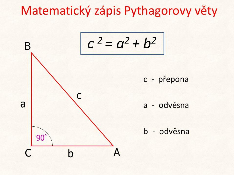 Matematický zápis Pythagorovy věty
