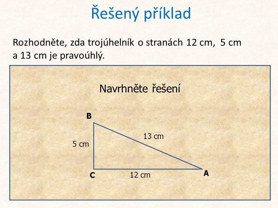 Trojúhelník je pravoúhlý