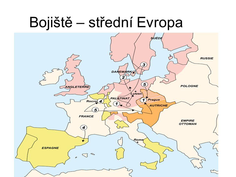 Bojiště – střední Evropa
