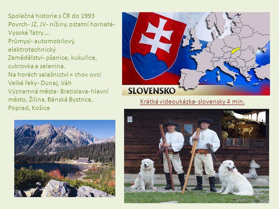 Společná historie s ČR do 1993
